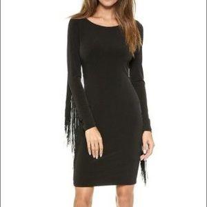 Long Sleeve Fringe Dress